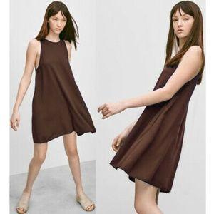Aritzia Trapeze Vegan Suede Dress